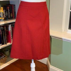 NWT Ann Taylor Red Skirt